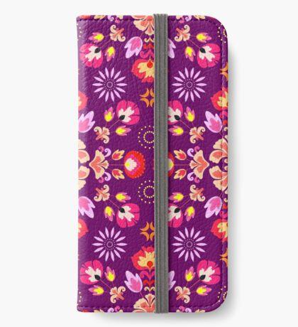 Fiesta Folk Purple #redbubble #folk iPhone Wallet