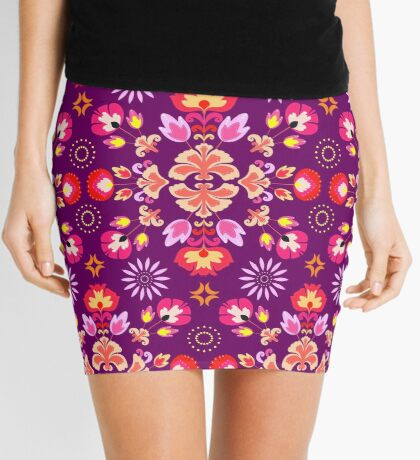 Fiesta Folk Purple #redbubble #folk Mini Skirt