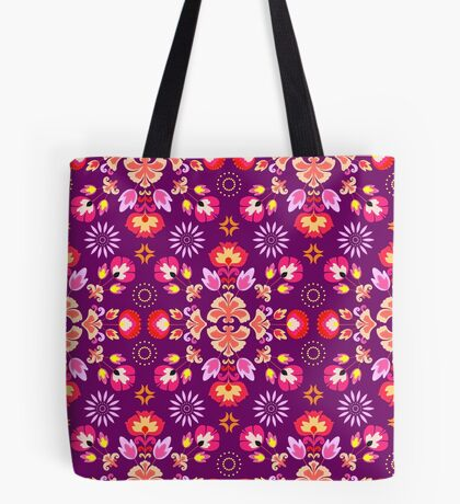 Fiesta Folk Purple #redbubble #folk Tote Bag