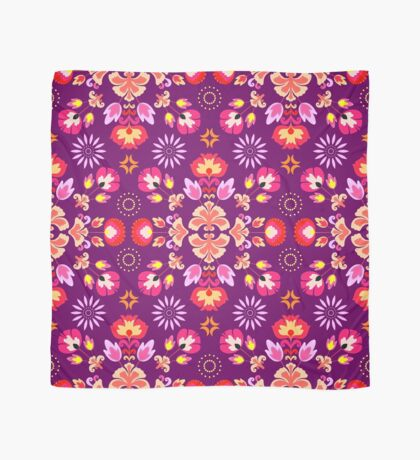 Fiesta Folk Purple #redbubble #folk Scarf