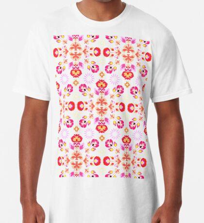 Fiesta Folk Purple #redbubble #folk Long T-Shirt
