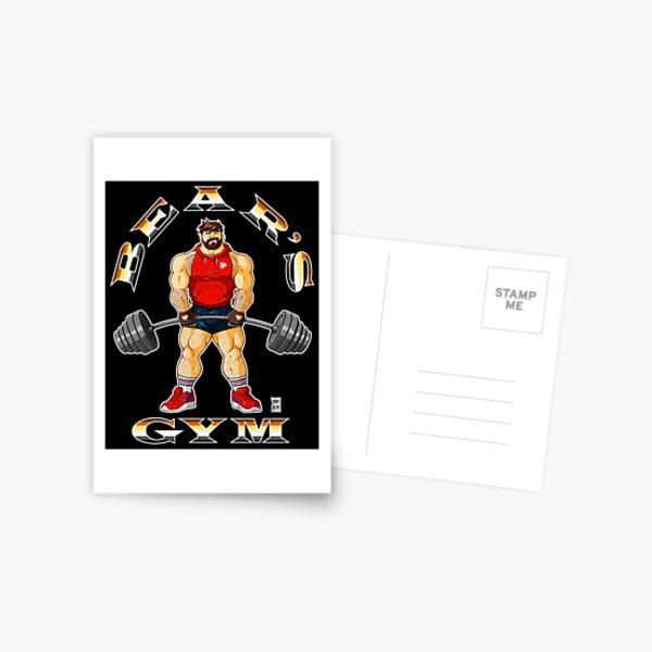 ADAM LIKES BEAR'S GYM Postcard