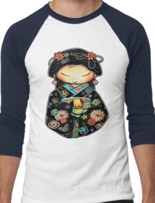 Little Multicolour Teapot Men's Baseball ¾ T-Shirt