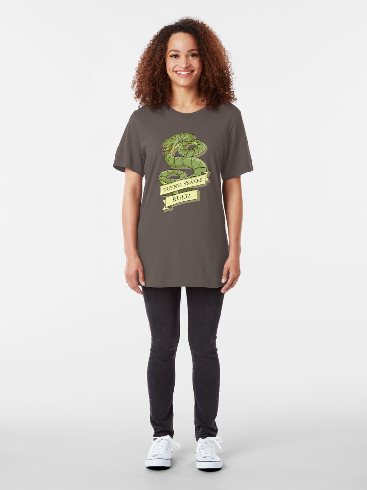 Alternate view of Tunnel Snakes Rule! Slim Fit T-Shirt