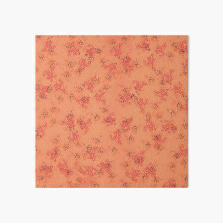 Orange and Pink Coral Print Art Board Print