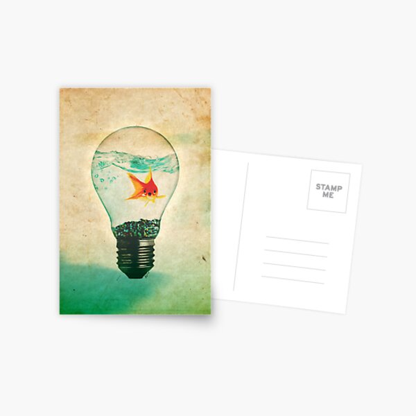 Fish Bulb Postcard
