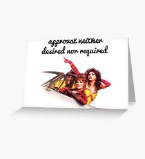 Approval not required Greeting Card