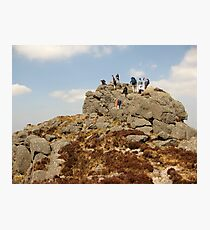 Climbing in The Comeraghs Photographic Print