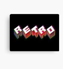 RETRO. 3D Typography cool 1980s/80s Design. Canvas Print