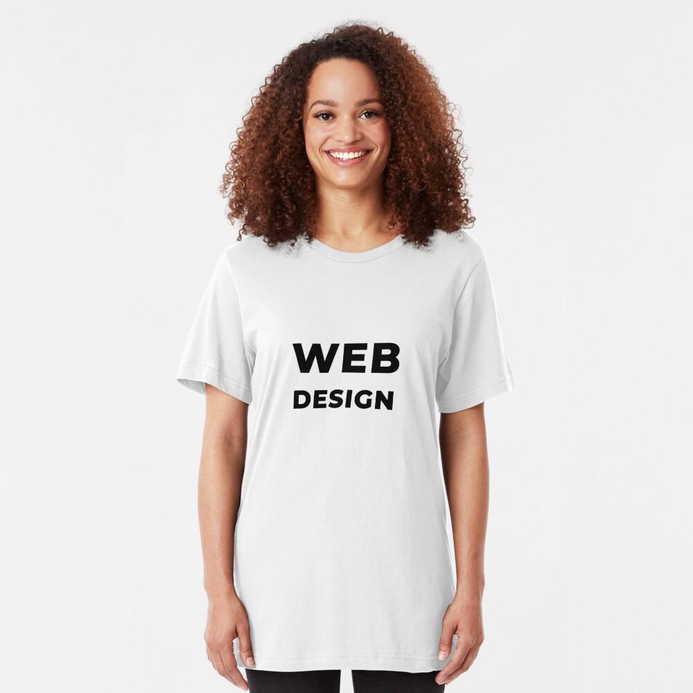 Web Design (Inverted) Slim Fit T-Shirt