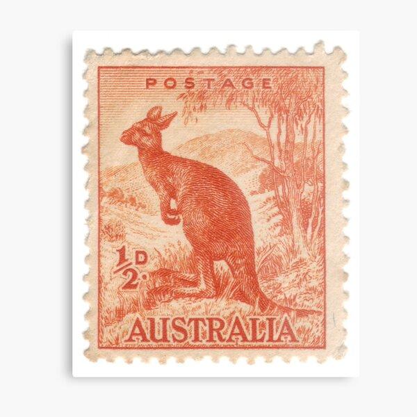 Old Australian stamp Metal Print