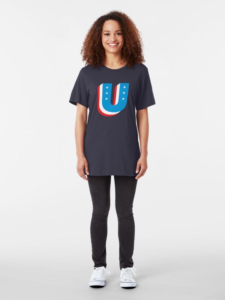 Alternate view of Unity Superhero Letter U Slim Fit T-Shirt