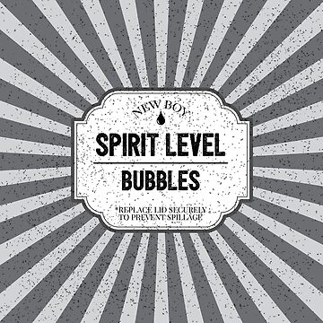 Spirit Level Bubbles Funny Construction Builder Apprentice Joke by CreativeTwins
