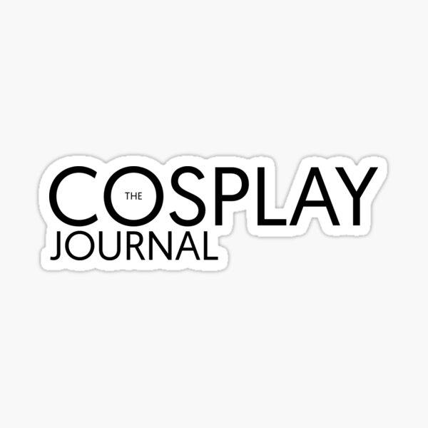 The Cosplay Journal Logo Black Sticker