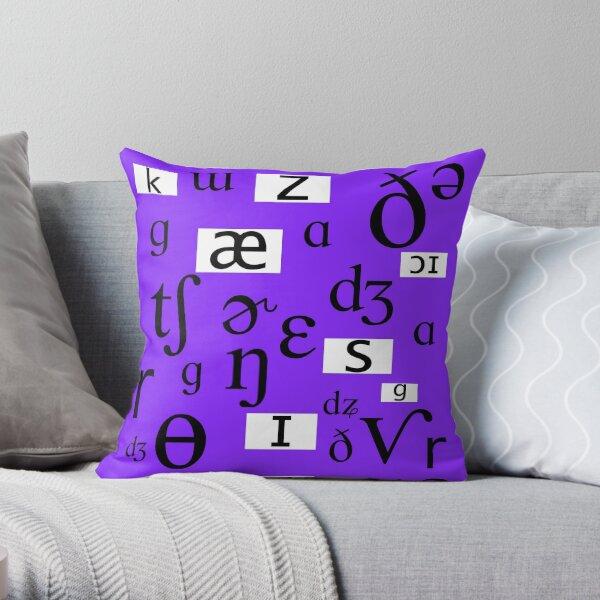 Phonetics Throw Pillow