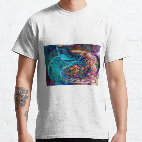 colorful abstract swirl art Classic T-Shirt