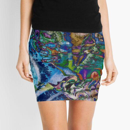 dominant blue object abstraction art Mini Skirt