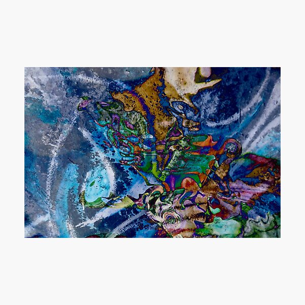 dominant blue object abstraction art Photographic Print