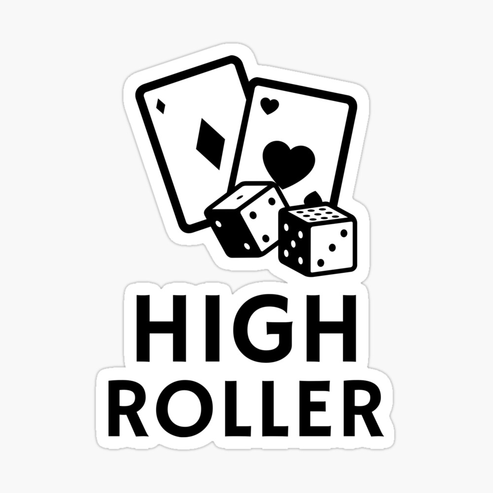 High Roller Font Design Poster By Kleinjenny Redbubble