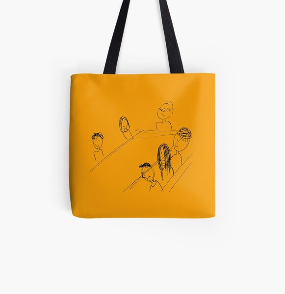 Breakfast With Friends All Over Print Tote Bag
