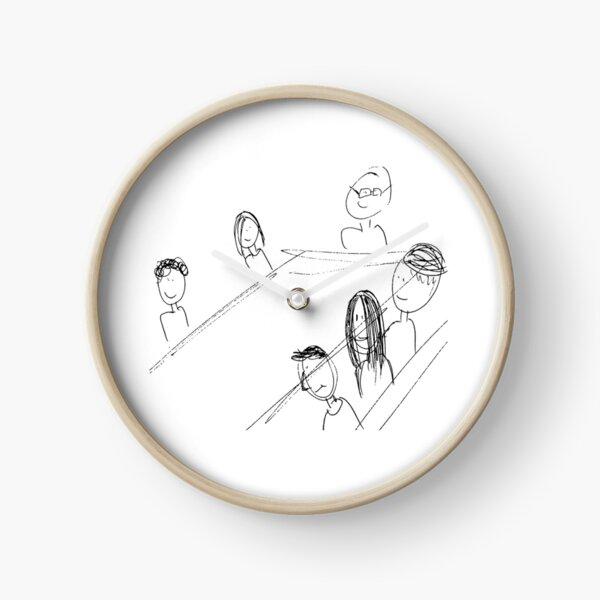 Breakfast With Friends Clock