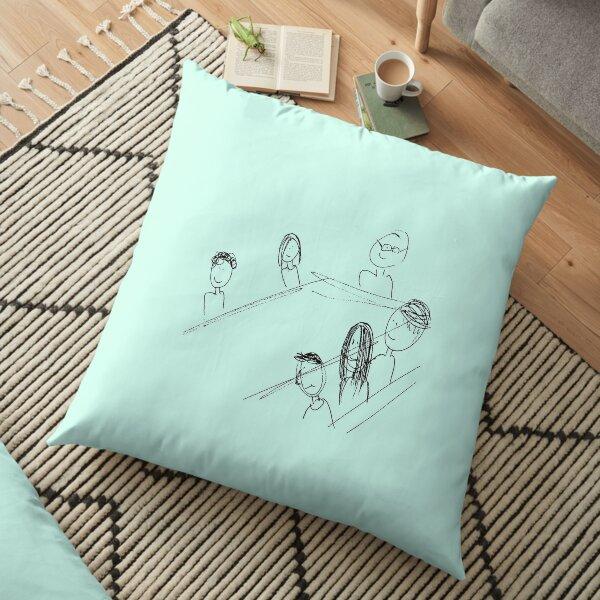 Breakfast With Friends Floor Pillow