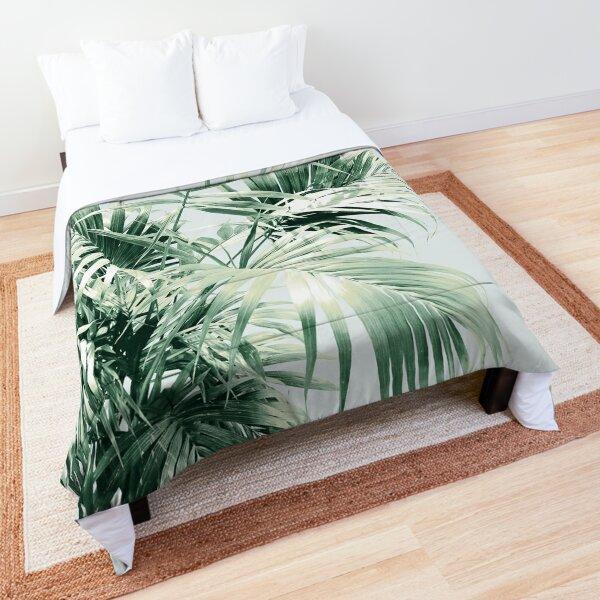 Palm Leaf Vibes #1 #tropical #decor #art  Comforter