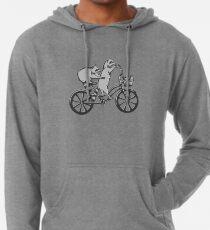 Racoons on bike, Raccoons on bicycle Lightweight Hoodie