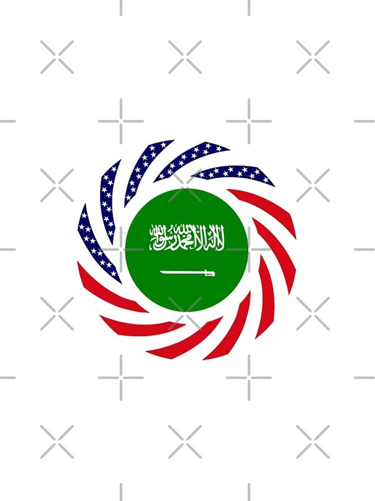 Saudi American Multinational Patriot Flag Series by carbonfibreme