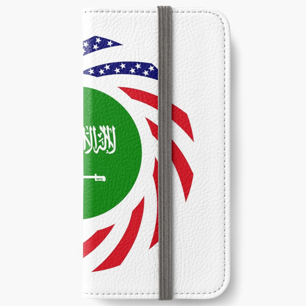 Saudi American Multinational Patriot Flag Series iPhone Wallet