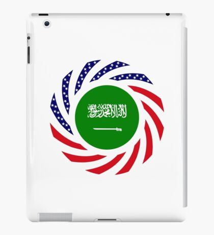 Saudi American Multinational Patriot Flag Series iPad Case/Skin