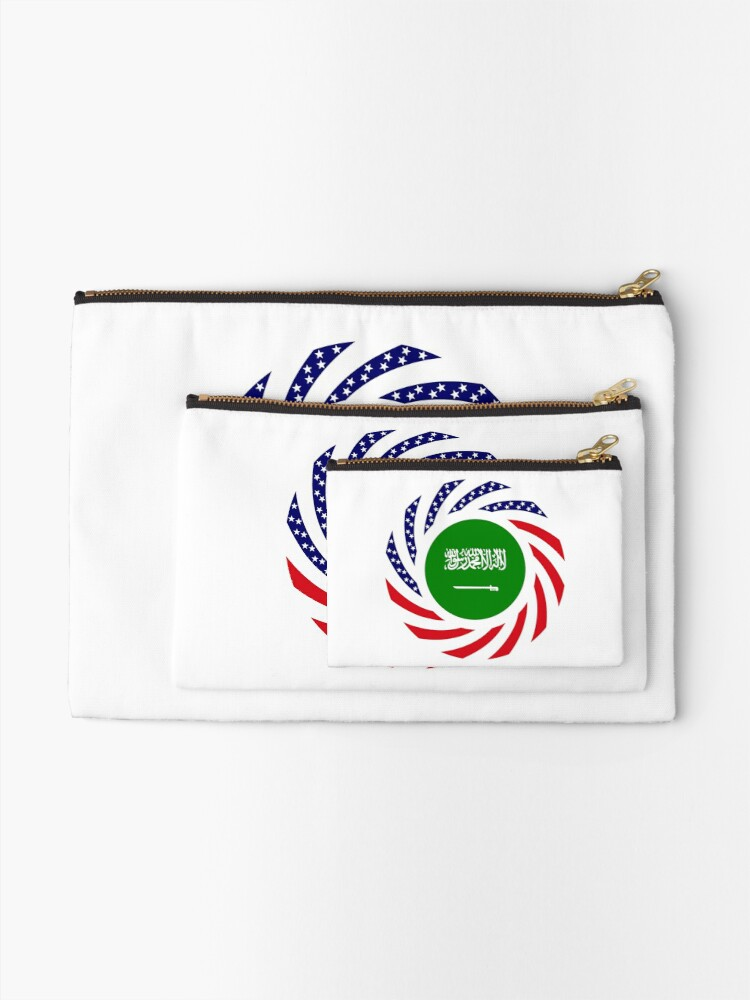 Alternate view of Saudi American Multinational Patriot Flag Series Zipper Pouch