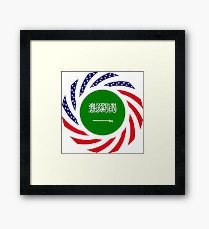 Saudi American Multinational Patriot Flag Series Framed Print