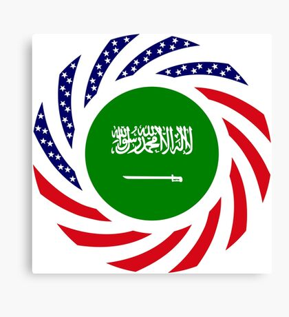 Saudi American Multinational Patriot Flag Series Canvas Print