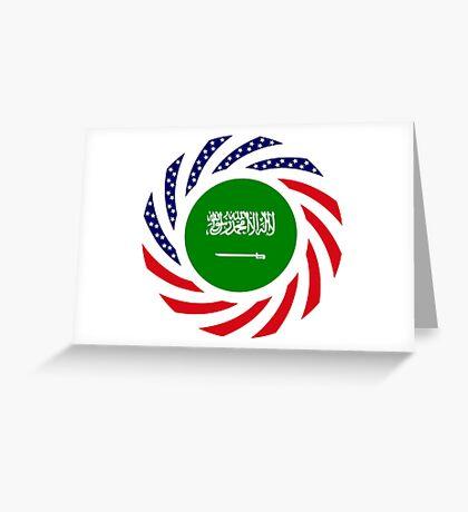 Saudi American Multinational Patriot Flag Series Greeting Card