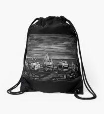 Fishing Fleet Drawstring Bag
