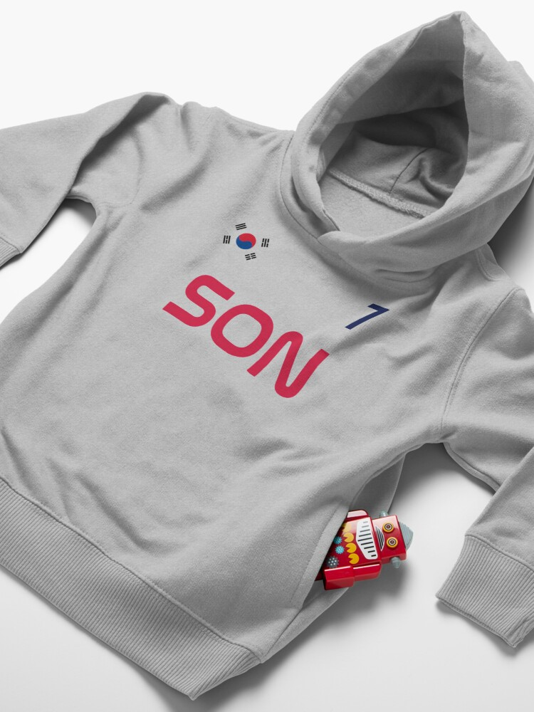 Alternate view of Son Jersey Script Toddler Pullover Hoodie
