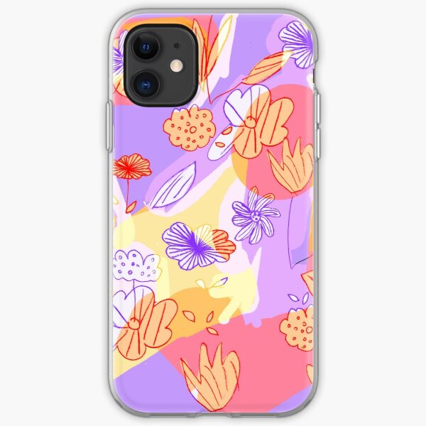 Happy Flowers iPhone Soft Case