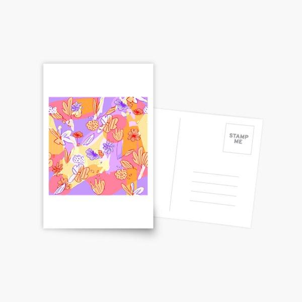 Happy Flowers Postcard