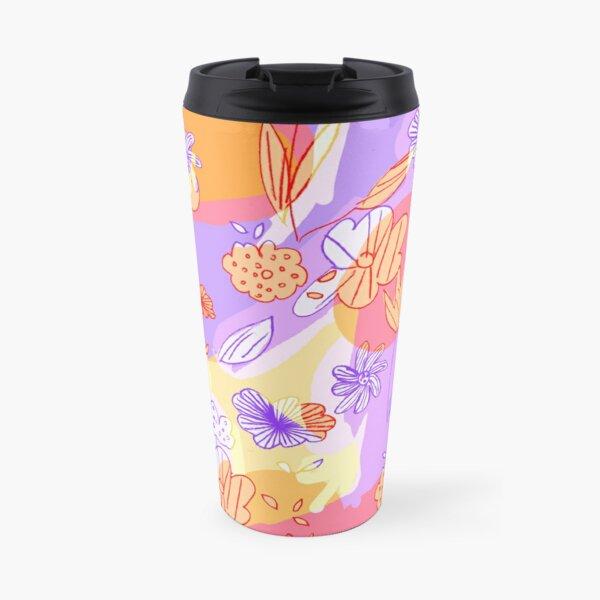 Happy Flowers Travel Mug