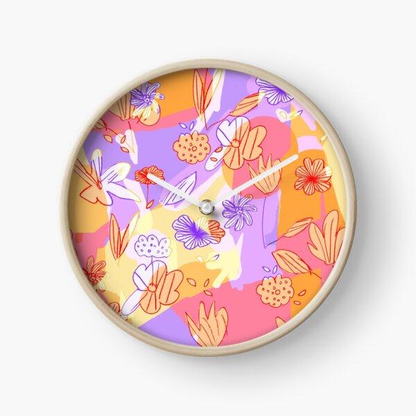 Happy Flowers Clock