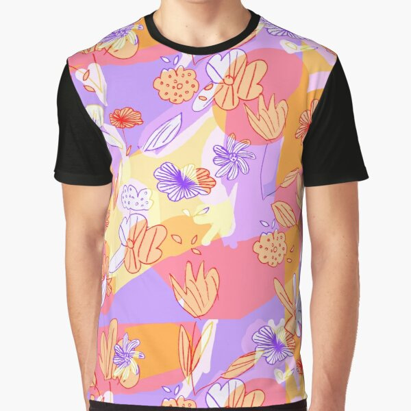 Happy Flowers Graphic T-Shirt
