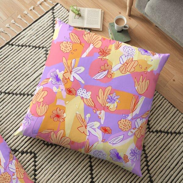 Happy Flowers Floor Pillow