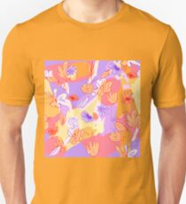 Happy Flowers Slim Fit T-Shirt