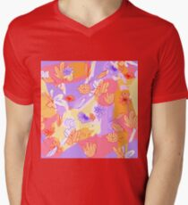 Happy Flowers T-Shirt mit V-Ausschnitt