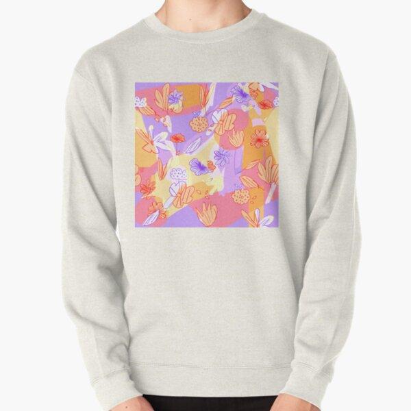 Happy Flowers Pullover Sweatshirt