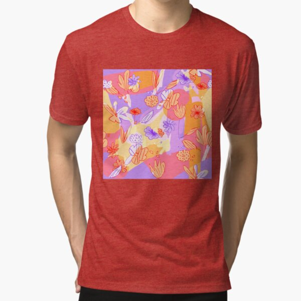 Happy Flowers Tri-blend T-Shirt