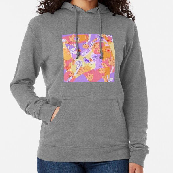 Happy Flowers Lightweight Hoodie