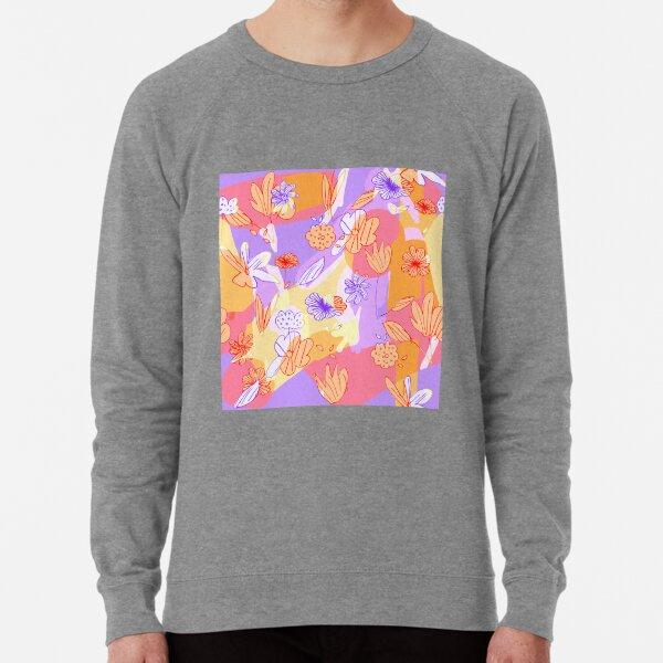 Happy Flowers Lightweight Sweatshirt