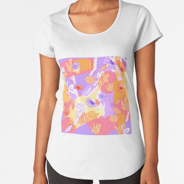 Happy Flowers Premium Scoop T-Shirt